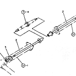 Drive shaft (outside at front)