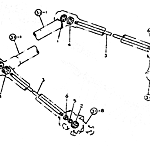Drive shaft (outside at rear)