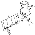 Lengthwise movable arm
