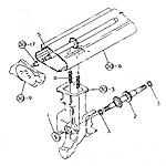 Transplanting arm shaft (middle), intermediate shaft