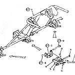 Transplanting depth adjusting rod