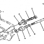 Variable-speed shaft and steering clutch shaft